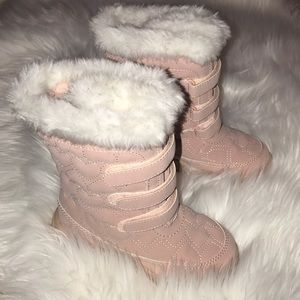Baby Gap New Pink Heart Snow Boots Size Toddler 11